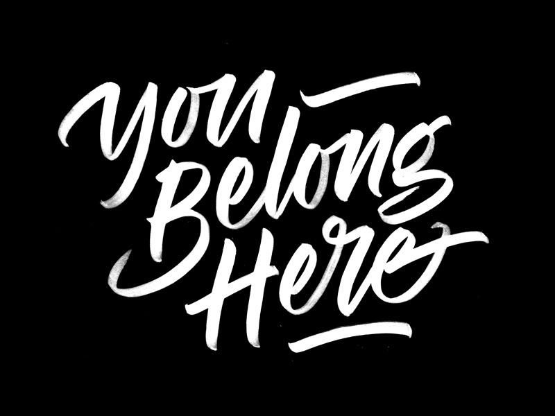 You Belong Here calligraphy tombow script brush here belong you lettering quite so