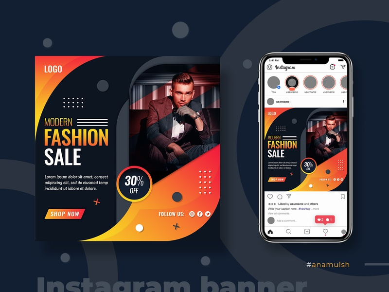 social media and instagram banner design discout banner ads banner anamulsh promo square banner social media banner psd sale banner marketing banner fashion instagram stories digital paiting instagram square advertising social media banner social media post template instagram post modern banner instagram banner