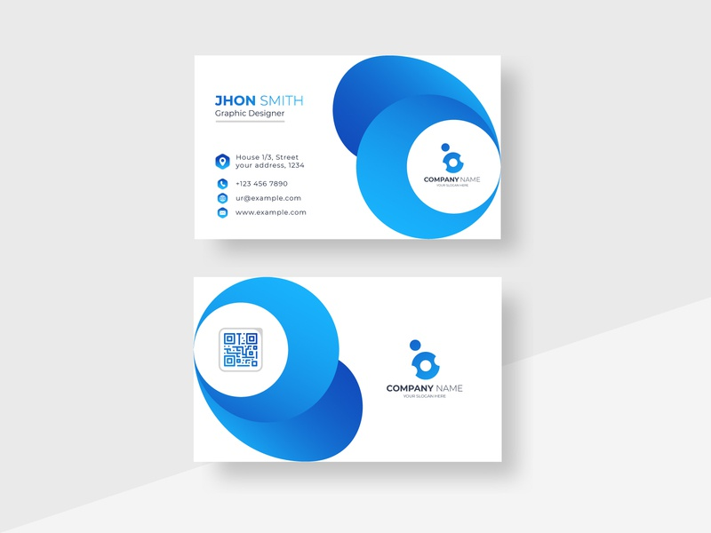 Corporate Minimal business card identity