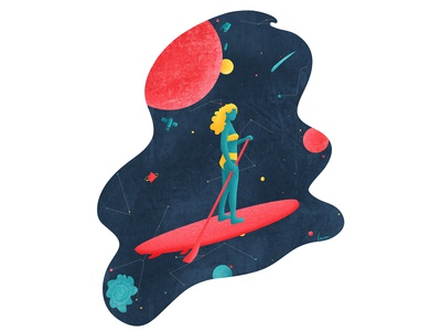 Space Paddle Surfing