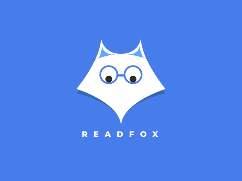 Experiments- 08 spectacles page reading list reading foxlogo fox branding daily dailylogochallenge dailychallenge illustration vector flat minimal dribbble design