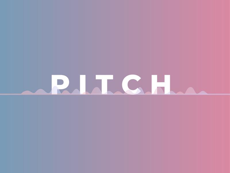Experiments- 09 word wordmark logotype minimal art distortion waves audio spectrum pitch vector dailychallenge flat minimal dribbble design