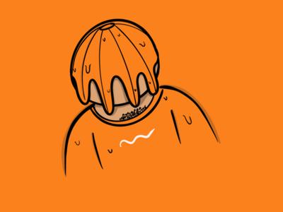 Tang man procreate orange illustration