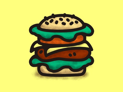 Burger Scribble line meat burger vector illustrations illustration design decoration food doodle