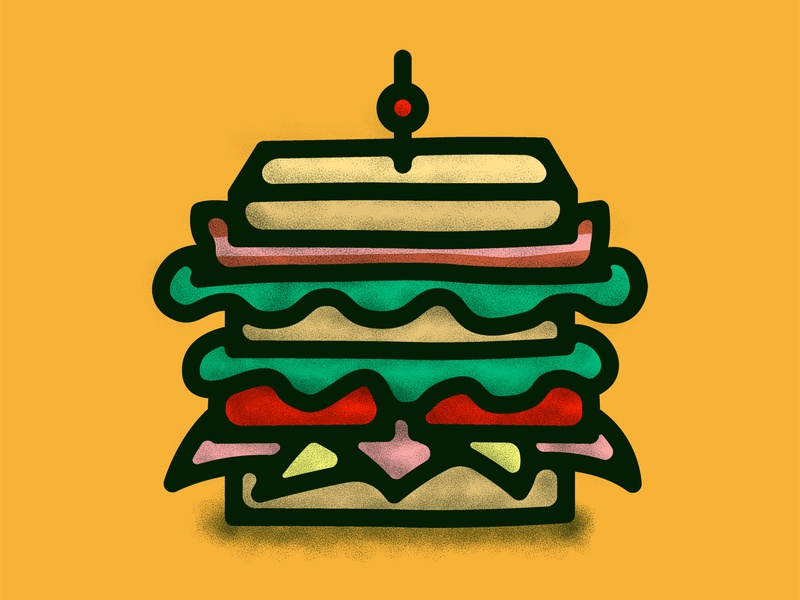 Sandwichito illustration sandwich decoration logo food illustrations design cartoon vector doodle