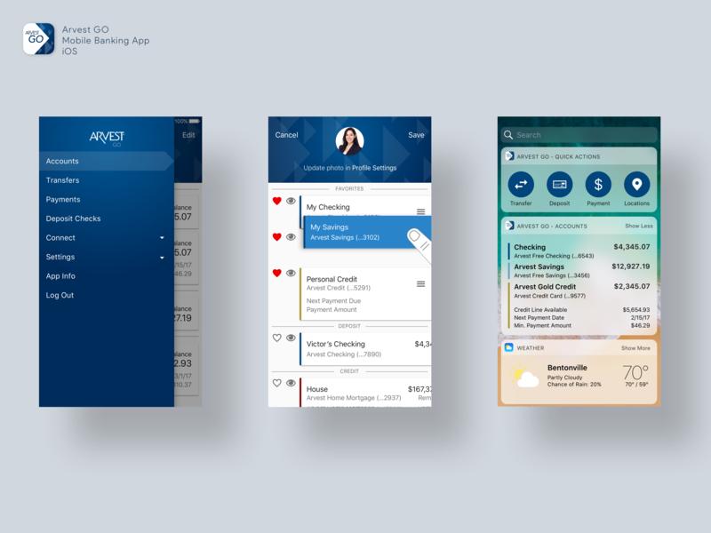 iOS Mobile Banking App ui ios design mobile banking app