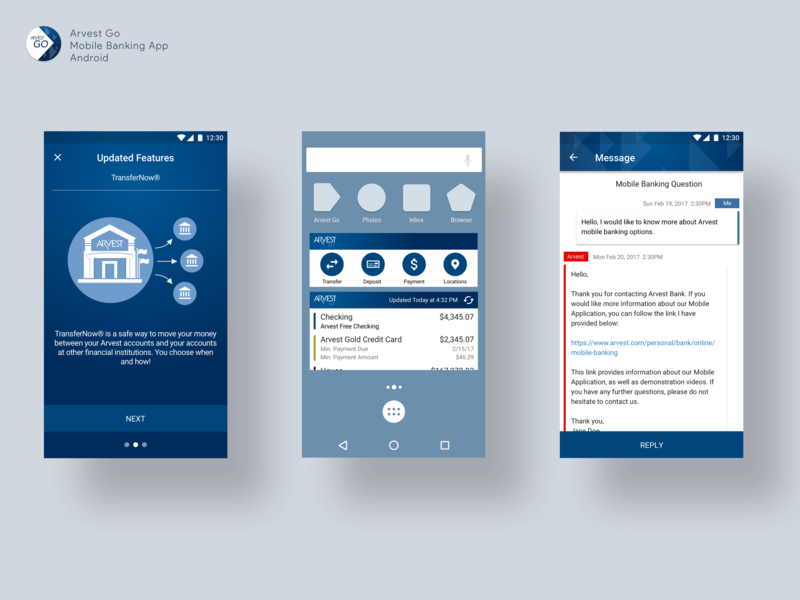 Android Mobile Banking App ui android design mobile banking