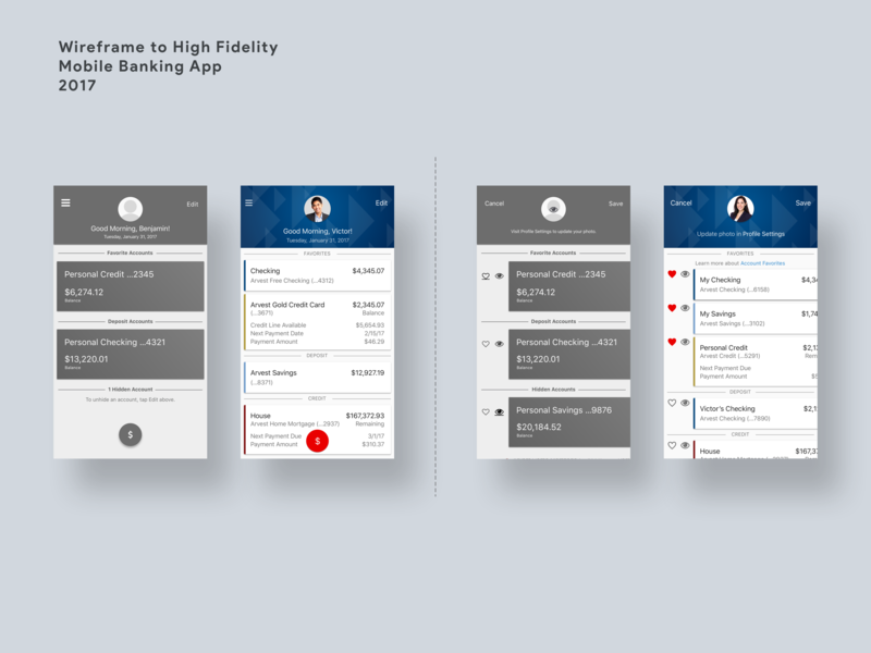 Rapid Design Evolution mobile design mobile banking user interface ui ux ui design ui  ux