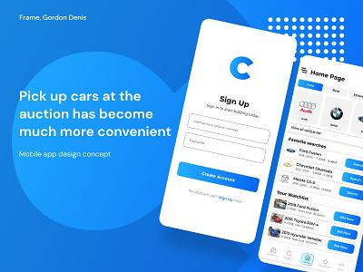 Copart mobile app concept app web ux ui