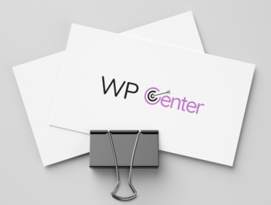 WpCenter logo sketch logo design logo design branding brand