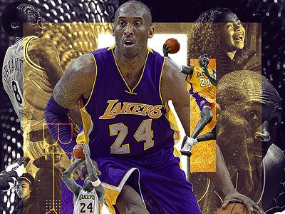 Kobe & Gigi tribute gigi lakers kobe type nba photoshop digital art sports graphic design design typography