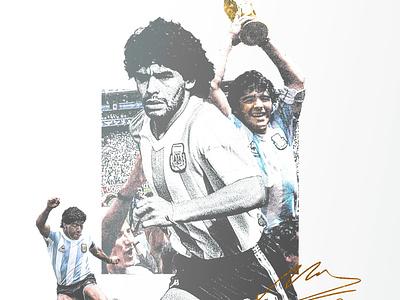 R.I.P. Maradona sports football club argentina graphic design tribute maradona soccer football