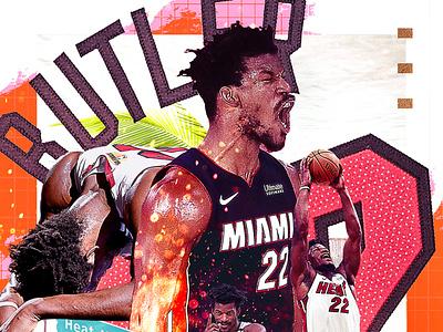 Jimmy Buckets typography graphic design nba jimmy butler miami heat sports design