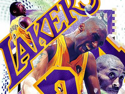 Kobe! typography photoshop digital art sports graphic design design nba tribute kobe