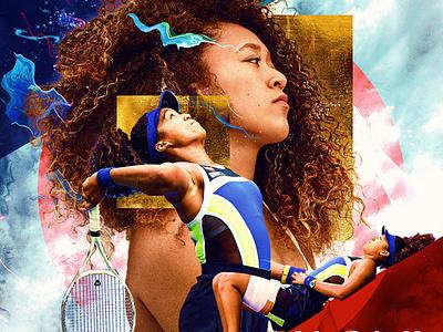 Naomi Osaka branding photoshop digital art japan haiti black history month typography tennis graphic design design naomiosaka