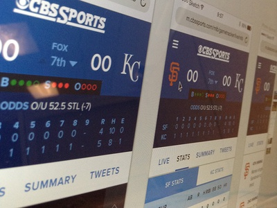 greg dubois projects cbssports mlb gametracker dribbble