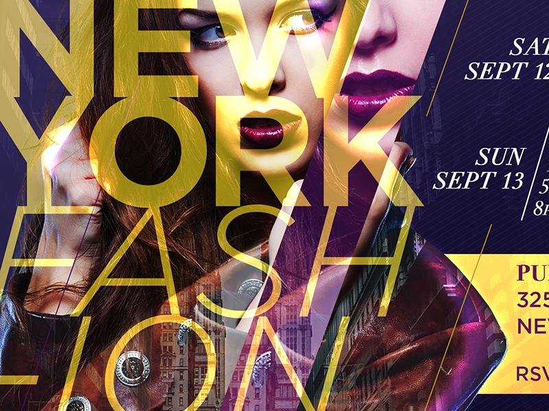2015 New York Fashion Week photoshop nyfw double exposure fashion new york fashion week flyer design typography