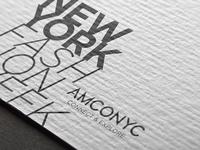 AMCONYC Rebrand / Flyers