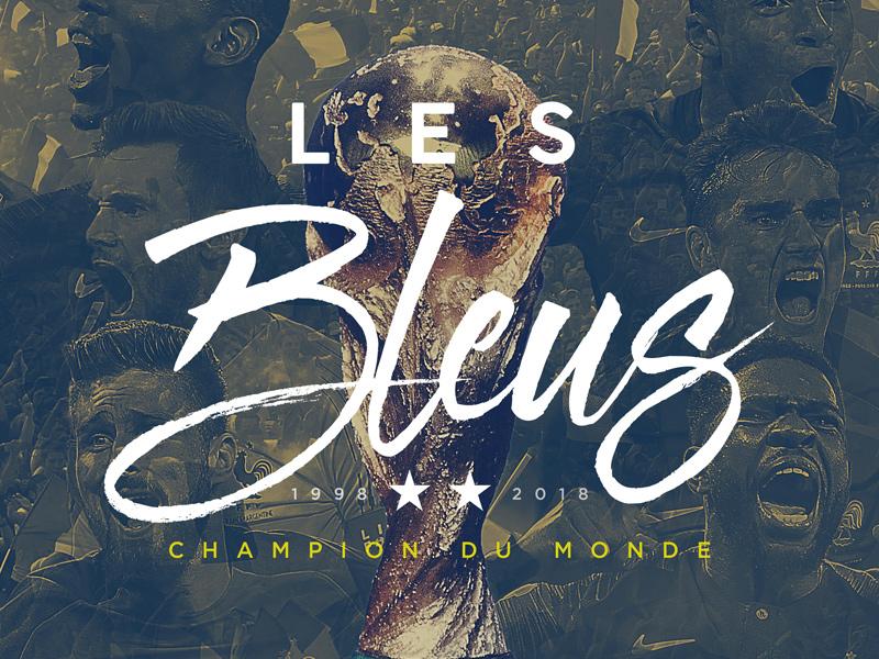 Les Bleus sports graphics fifa soccer football graphic design typography les bleu world cup france
