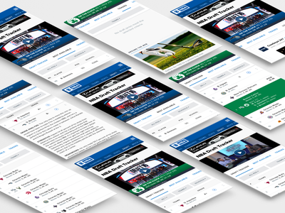 NBA Draft Tracker visual design sports product design ux ui mobile nba
