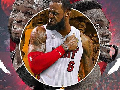 Lebron to MIA (wishful thinking) basketball nba photoshop digital art sports design graphic design lakers miami heat lebron james