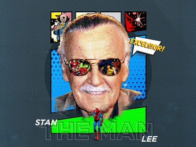Stan Lee tribute typography avengers spider-man marvel graphic design design stan lee