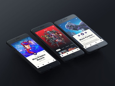 Disney Plus Concept streaming typography disney plus marvel prototype sketch ui design app design design disney