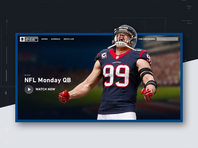 CBS Sports Network Redesign principle sketch graphic design typography streaming motion redesign cable cbs sports ux design ui design visual design product design