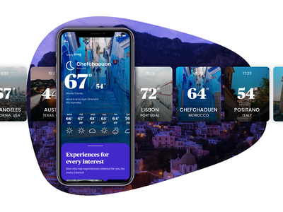 Weather Plans app weather weather app ux ui design ios travel sketch principle app principle mobile personalization location forecast cities app animation