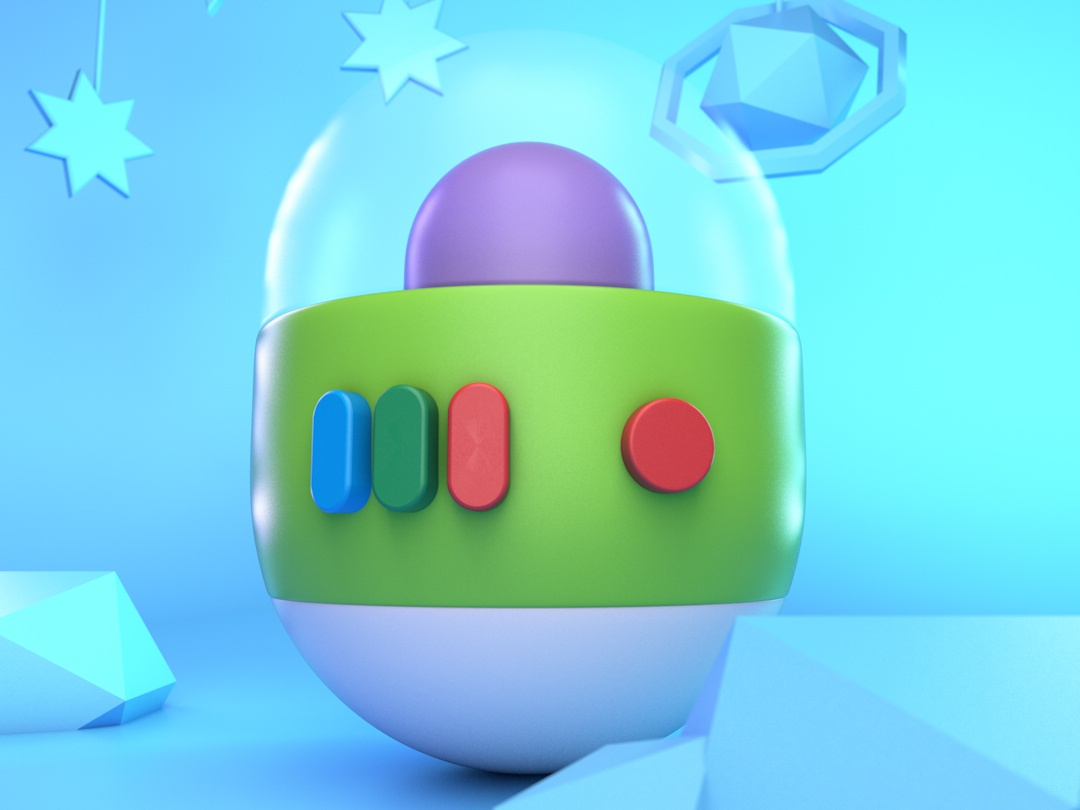 Geo Buzz design toystory pixar disney character c4d render minimal