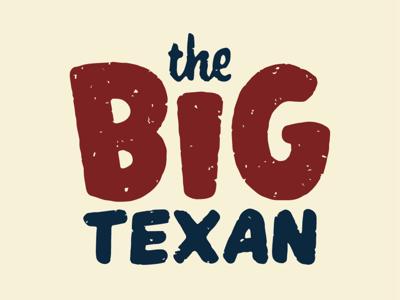 The Big Texan beef steak retro amarillo texas logo