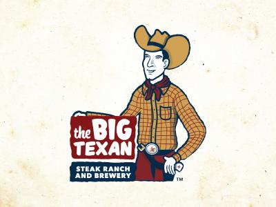 The Big Texan logo texas amarillo retro steak beef