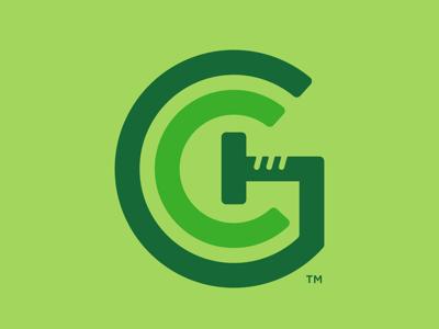 Greenway Customs Homes h c g nail construction house home logo