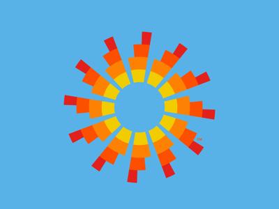 House of Sun Tanning Salon ray solar orange yellow red sun logo