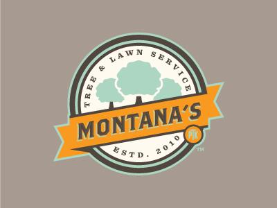 Montana's Tree & Lawn Service logo brand tree vintage modern classic