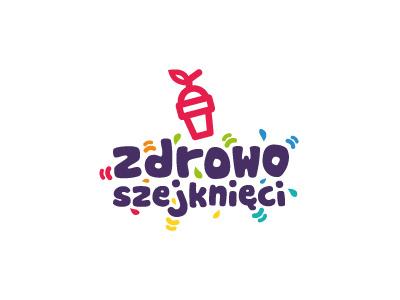 Zdrowo Szejknięci - smoothies foodtruck logo drop juice branding foodtruck smoothies shake cup