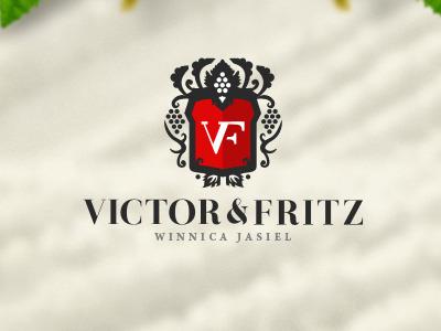 Victor Fritz  wine vine alcohol herb heraldic leafs crown