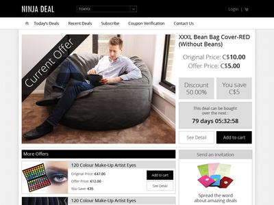 e-commerce - Deal website e-commerce web shop black white shop landing page design ui web user interface