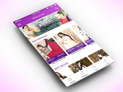 e commerce Mob App ui app purple iphone mobile e commerce shoping cart