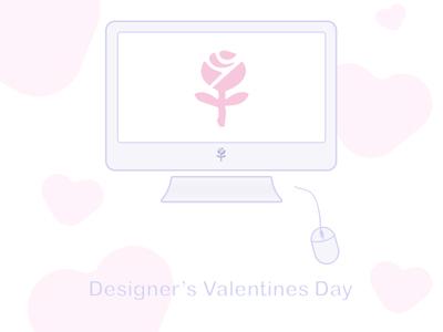 Designer's Valentines Day  valentines love illustration heart design cupid rose