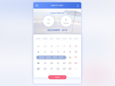 Vacation & Leave Plan - UX, UI