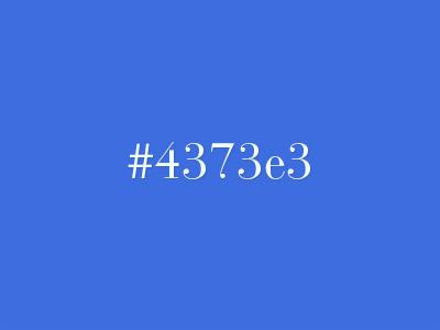Favorite - 4373e3 code hex color favorite
