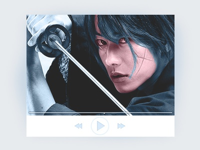 video UI, Samurai X movie kenshin rurouni samurai play controller app ui video