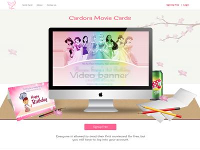 Web Landing ui website layout pink interface design web