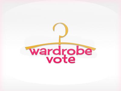 Logo - wardrobe vote vote wardrobe typography logo illustration design pink
