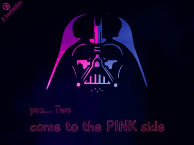 2X Dribbble Invitation, come to Dark side ... pink side