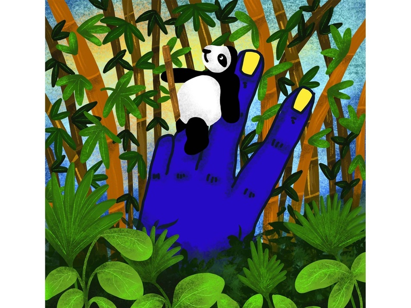 Hooman Bond 03 - PANDA bamboo panda indianillustrator hand illustration animal illustration procreate illustration