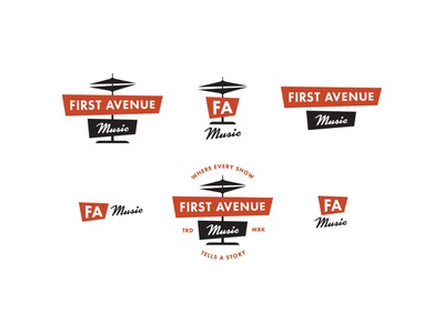 First Avenue Music / Rebrand favicon marks design music announcement collateral design collateral branding identity responsive logos logos logo branding design branding first avenue music