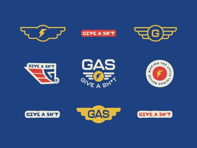 Give A Sh*t consulting gas brand kit brand identity design identity badge mark california logo typography logos branding