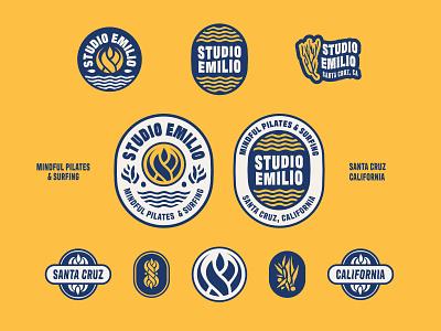 Studio Emilio brandkit mindfulness pilates surfing graphic design design identity badge california mark logo typography logos branding